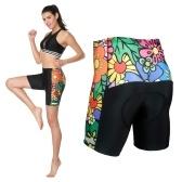 Pantalones cortos de ciclismo acolchados 3D de medio pantalón de ciclismo para mujer