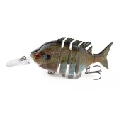 HENG JIA Künstliche Köder für Angelgerät Wobbler Jointed Aal Fisch Locken Hart Langsam Sink Swimbait Multi Gelenkig Hohe Festigkeit