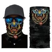 Cool Robot Skeleton Maschera di Halloween Sciarpa Joker Fascia Passamontagna per Ciclismo Pesca Sci Moto