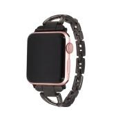 Frauen Diamant eingefügt Armband Schmuck Mode Elegant Armband Edelstahl Uhrenarmband für Apple Watch