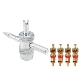 Multifunctional Tyre Repairing Tools Kit With 4pcs Copper Valve Cores