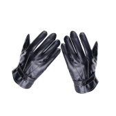 Winter-Männer Lederhandschuhe mit Bildschirmberührung