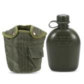 Militärische Kantinenflasche im Freien mit Deckel