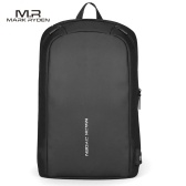 MARK RYDEN Portable Fashionable Casual Anti-Thief Multifunctional Waterproof USB Charging Outdoor Men Backpack