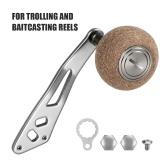 2 Ball Bearings Fishing Reel Handle for Left Right Baitcasting Trolling Reel Cork Handle Knob Fishing Reel Parts Accessories