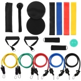 18Pcs Resistance Bands Set Workout Fintess Exercise Rehab Bands Loop Bands Tube Bands Door Anchor Ankle Straps Cushioned Handles Gliding Discs Spiky Massage Ball with Carry Bags for Home Gym Travel