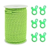 2.5mm / 4mm 50M Reflective Tent Guyline Rope Paracord with 6 Guyline Adjusters Tensioners for Outdoor Camping Tent Awning