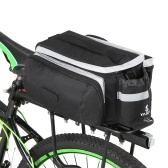 Multifunctional Bicycle Rear Seat Bag Cycling Bike Rear Rack Trunk Pannier Luggage Carrier Bag Handbag Shoulder Bag