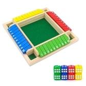 Деревянный четырехсторонний набор настольных игр с 10 номерами