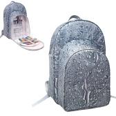 Picknick-Rucksack Tasche Wasserdichte Camping-Tasche mit Weinhalter Besteck Set Baumwollservietten Salzstreuer für Picknick im Freien