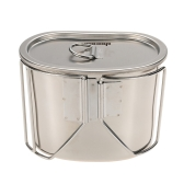 Docooler Edelstahl Space Saver Cup-Wasser-Schalen Tragbare 700ml