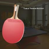 Деревянная ручка Настольный теннис ракетка Пинг-понг Paddle Bat Лезвие Shakehand Возьмитесь Ракетка с сумка