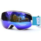 Дети Лыжный спорт Конькобежный Защитные очки Защита от ультрафиолетовых лучей Anti-туман Wide Сферический PC объектива против скольжения ремень Шлем Совместимость