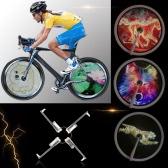 Resolución de alto brillo de 2500cd / m2 elegante inteligente de la bici habló la luz de la rueda del monitor RGB Pantalla recargable de la rueda de bicicleta Hub 256 / 416pcs completo Coloreado LED Luz