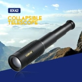 Visionking 25x30 High Power Mini Compact Monocular BAK4 Roof Prism Portable Collapsible Telescope