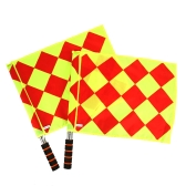 2 Pz Calcio Arbitro Flags Football Judge Sideline Sports Match Linesman Bandiere