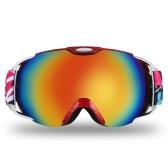 Lixadaアダルトスキーゴーグル冬のスノースポーツスノーボードゴーグルスノーモービルスキースケートのための通気防曇球二重レンズ