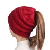 ウール暖かい帽子ファッション編み冬のビーニーキャップ柔らかい居心地の良い純粋なカラー帽子女性のためのソフトなバギーの帽子