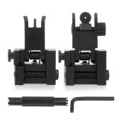 Flip Up Iron Sights Juego plegable de transición rápida de respaldo Juego de mira frontal y trasero de hierro con herramienta de ajuste