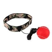 Бокс рефлекс мяч регулируемый повязка для рефлекса скорость обучения бокса упражнения тренировки улучшить реакции и скорость бокса тренажерный зал оборудования