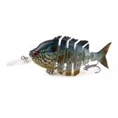HENG JIA Esca artificiale per attrezzatura da pesca Wobbler snodata anguilla Pesce esca dura Lenta dissipatore Swimbait Multi snodata ad alta resistenza