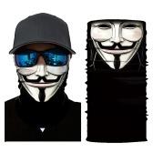 Coole Roboter Skelett Halloween Maske Schal Joker Stirnband Balaclavas für Radfahren Angeln Ski Motorrad
