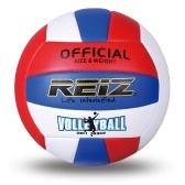 Weiche Leder-Volleyball-Teenager-Erwachsene Indoor-Outdoor-Training Volleyball mit Speichernetzbeutel und Pumpennadel