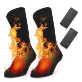 Носки с электрическим подогревом Теплые носки для холодной погоды на батарейках