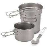 Набор посуды для кемпинга Titanium