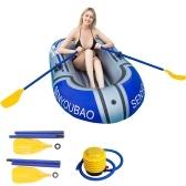 ПВХ каноэ на 1 человека, надувная лодка, набор каяков с веслом и воздушным насосом