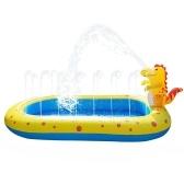 Pool Aufblasbare Wassersprays Pad Gasgefüllter Springbrunnen Sprinkler spielt Pool Kinderschwimmbad