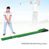 TOMSHOO Golf Indoor 3m Putting Trainer mit Doppel Holes Gravity Ball Return Ausrichtungsanzeige für Anfänger bis Profi-Spieler
