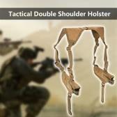 Táctica del hombro doble horizontal Funda universal ajustable militar bajo el brazo portador doble Holder