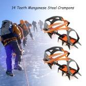 14-точечная марганцевой стали альпинистское снаряжение Скобы льда Grippers Crampon тяговое устройство Альпинизма Glacier Ice Путешествия Прогулки