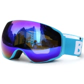 Erwachsene Ski Snowboard Skating Brille UV-Schutz Anti-Fog-Weit Sphärische PC-Objektiv Anti-Rutsch-Bügel-Helm-kompatibel
