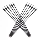 12pcs Carbon Fiberglass Targeting Shooting Arrows 8mm Arrow Shaft Diameter for Outdoor Target Practice Recurve and Compound Bow
