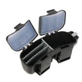 Multifunctional Portable Fishing Bait Tackle Box Storage Box Waist Carrier Lure Reel Holder Container Utility Box Case Fishing Hooks Accessory Box Waist Belt Multi-loader