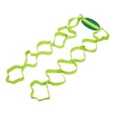 Banda de la correa del ejercicio del estiramiento del algodón del yoga con los lazos múltiples del apretón para la aptitud