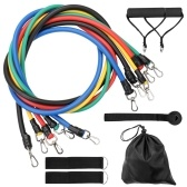 11 Pcs/Set Fitness Puller Multi-functional Muscle Strength Yoga Training Rope Resistance Belt