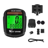 Solar Powered Bike Computer Wireless Waterproof Bicycle Speedometer Odometer Automatic Wake-up Bicycle Computer