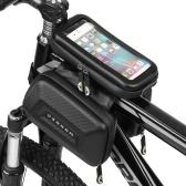 Сумка на руль велосипеда с сенсорным экраном, водонепроницаемая передняя рама, верхняя труба, сумка для велосипеда, двойная сумка, большая емкость