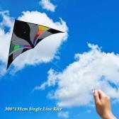300 * 135cm línea única de Kite enorme delta en forma de cometa folleto Triángulo montado cometa Niños Adultos para la diversión perfecto para vacaciones
