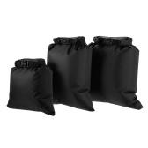 Lixada Pack из 3 водонепроницаемых сумок 3L + 5L + 8L Сверхлегкие сухие мешки