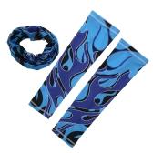 Мужчины Женщины Велоспорт Велосипед Верховая маска для лица Breathable Anti UV Открытый спортивная шея теплый повязка шарф с рукавами рукава