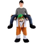 Funny Stuffed Carry Back Ride en trajes de la mascota de los pantalones