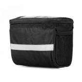 Bicycle Insulated Front Bag with Reflective Strip
