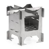 Estufa de madera plegable de titanio ligero