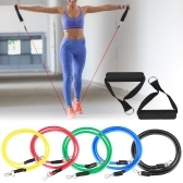 11pcs Resistance Bands Set Workout Fintess Exercise Tube Bands Door Anchor Ankle Straps Cushioned Handles with Carry Bags for Home Gym Travel