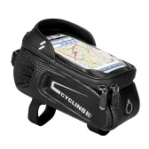 Waterproof Bicycle Top Tube Bag Bike Phone Front Frame Bag Cycling Phone Mount Holder Case for 6.4 Inch Mobile Phone