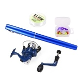 Pen Angelrute und Reel Combo Set Mini Teleskop Pocket Angelrute Spinnrolle Angelschnur Soft Köder Köder Jig Haken